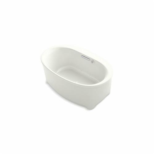 Kohler® 5702-G-NY Underscore® Bathtub, BubbleMassage™, Oval, 60 in Lx36 in W, Center Drain, Dune