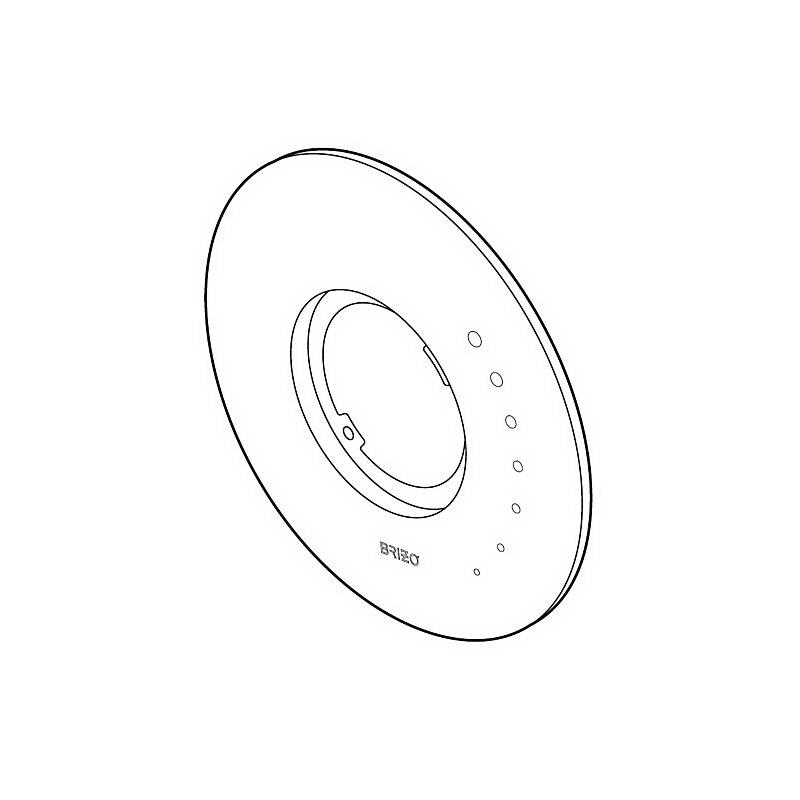 Brizo® RP49095 Vesi® Escutcheon, For Use With MultiChoice® Model T60075, T60275, T60475 Thermostatic Valve Trim, Chrome Plated, Import