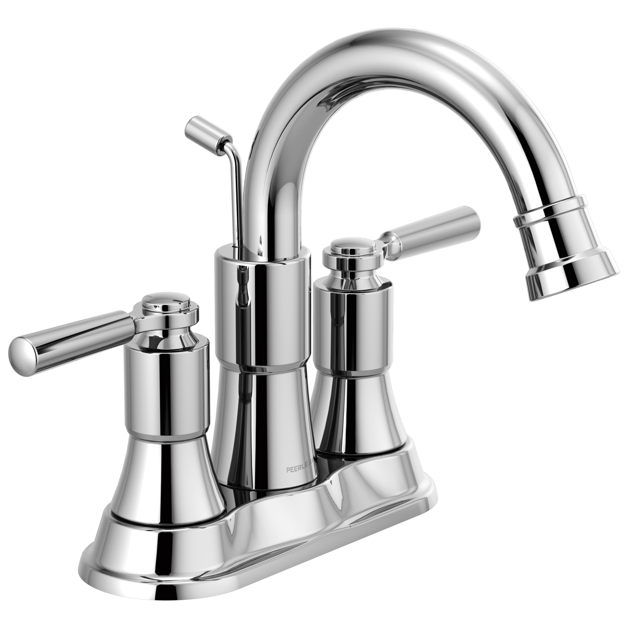 Peerless® P2523LF Centerset Bathroom Faucet, Westchester™, Chrome Plated, 2 Handles, Pop-Up Drain, 1 gpm