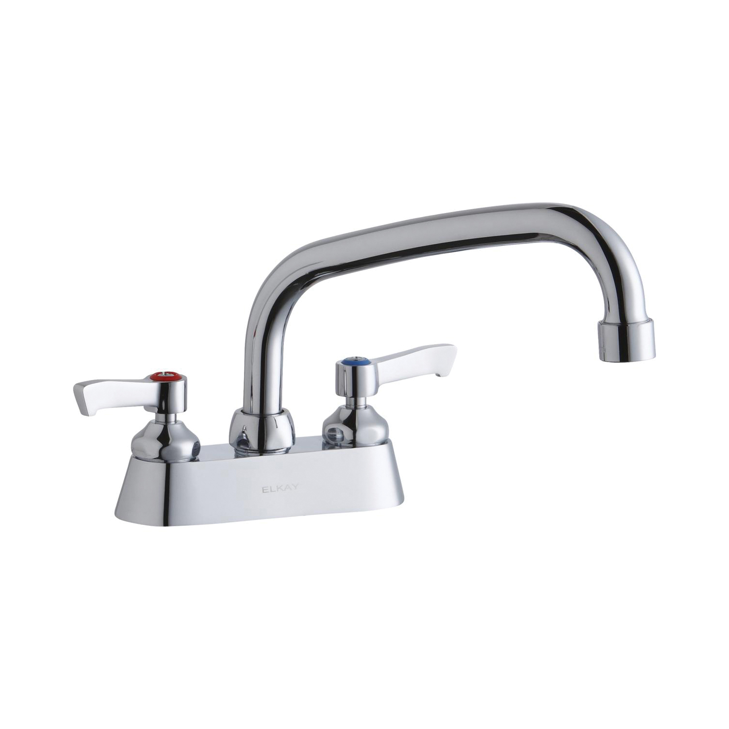 Elkay® LK406AT08L2 Centerset Bathroom Faucet, Chrome Plated, 2 Handles, 1.5 gpm