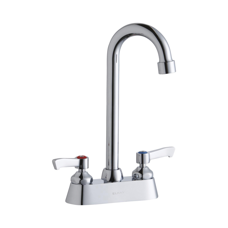 Elkay® LK406GN05L2 Centerset Bathroom Faucet, Chrome Plated, 2 Handles, 1.5 gpm