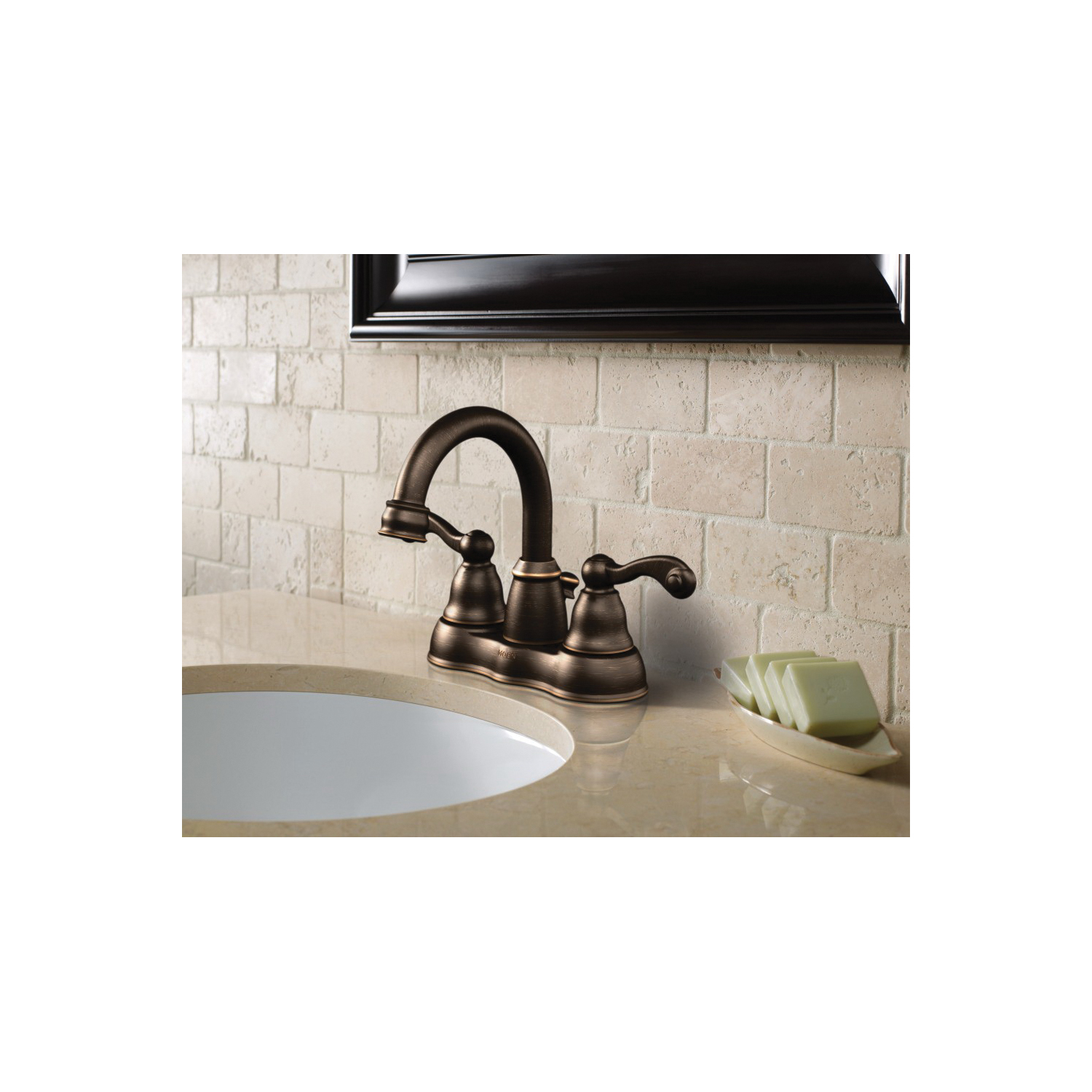 Moen® WS84003 Centerset Bathroom Faucet, Traditional®, Chrome Plated, 2 Handles, 50/50 Pop-Up Drain, 1.2 gpm