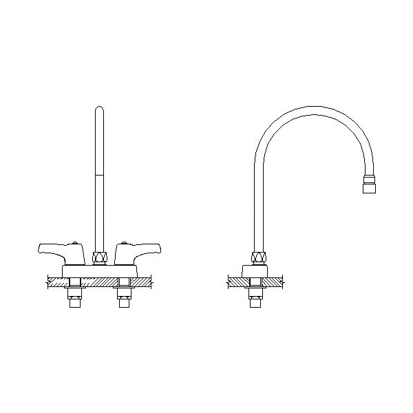 DELTA® 27C4933-R7 Heavy Duty Lavatory Sink Faucet, TECK®, Polished Chrome, 2 Handles, 1.5 gpm