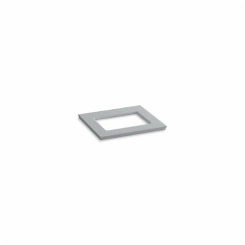 Kohler® 5455-S36 Solid/Expressions™ Vanity Top With Single Verticyl® Rectangular Cutout, 22-13/16 in OAWx22-13/16 in OADx1-1/4 in OAH, Stone Ice Gray Top