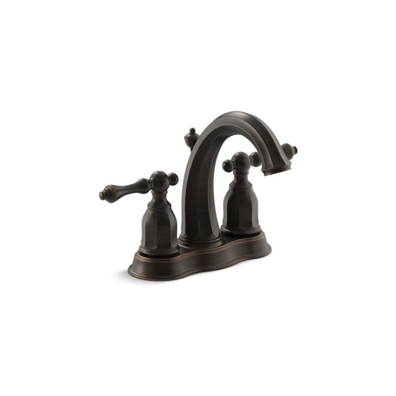 Kohler® 13490-4-2BZ Centerset Bathroom Sink Faucet, Kelston®, Oil Rubbed Bronze, 2 Handles, Pop-Up Drain, 1.2 gpm