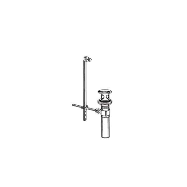 Brizo® RP28653BZ Complete Pop-Up Assembly, Brilliance® Brushed Bronze, Overflow: No, Full Metal Drain, Includes Lift Rod: NO