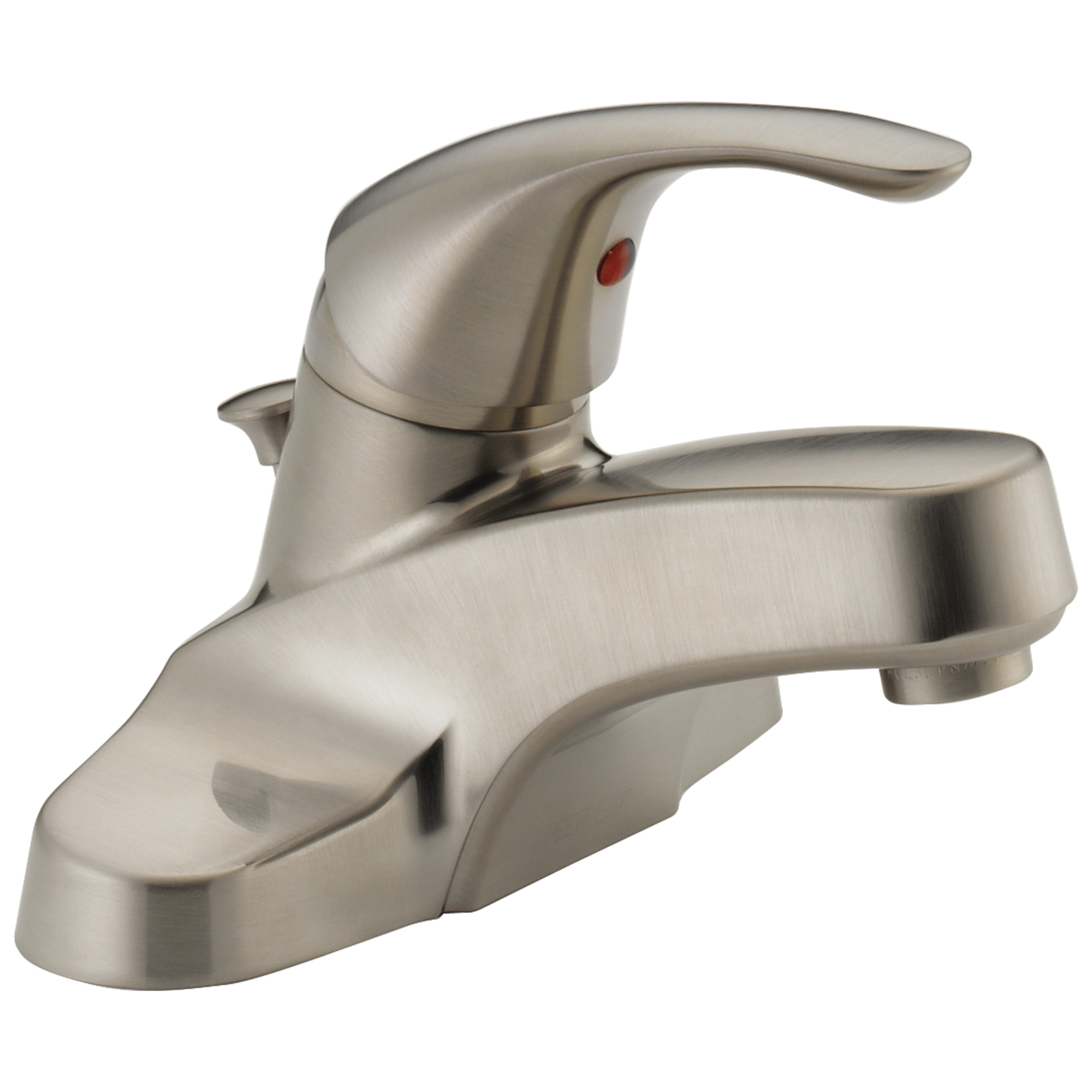 Peerless® P188620LF-BN Centerset Lavatory Faucet, Brushed Nickel, 1 Handles, Pop-Up Drain, 1.5 gpm