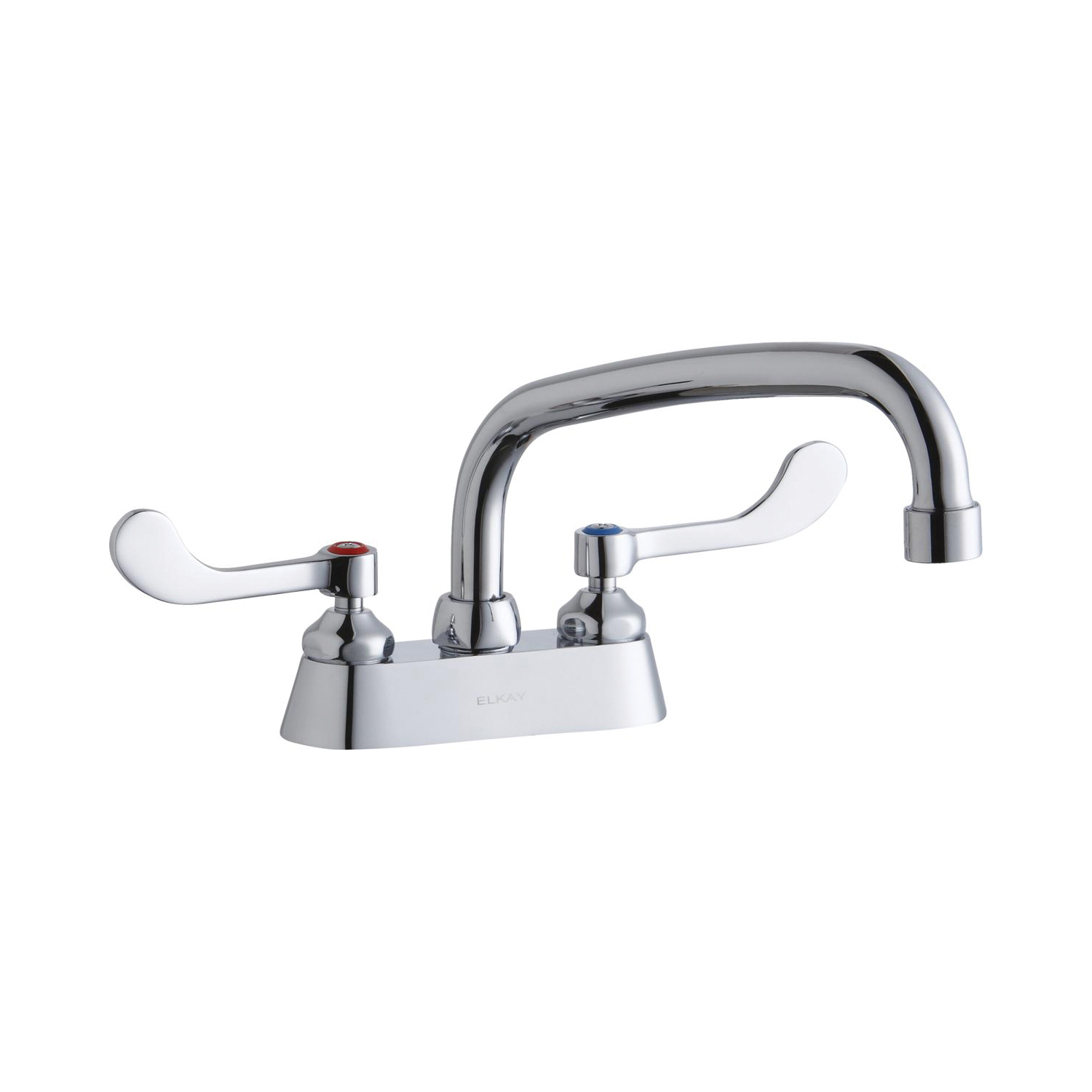 Elkay® LK406AT08T4 Centerset Bathroom Faucet, Chrome Plated, 2 Handles, 1.5 gpm