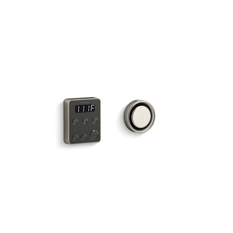 Kohler® 5557-BN Steam Generator Control Kit, Invigoration™, Adjustable Panel, 90 to 125 deg F, Vibrant® Brushed Nickel, For Use With: Invigoration™ 5 to 15 kW Steam Generator