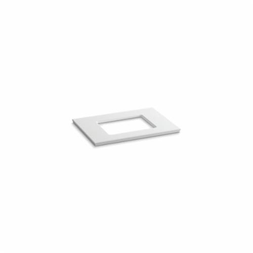 Kohler® 5456-S33 Solid/Expressions™ Vanity Top With Single Verticyl® Rectangular Cutout, 22-13/16 in OAWx22-13/16 in OADx1-1/4 in OAH, Stone White Top