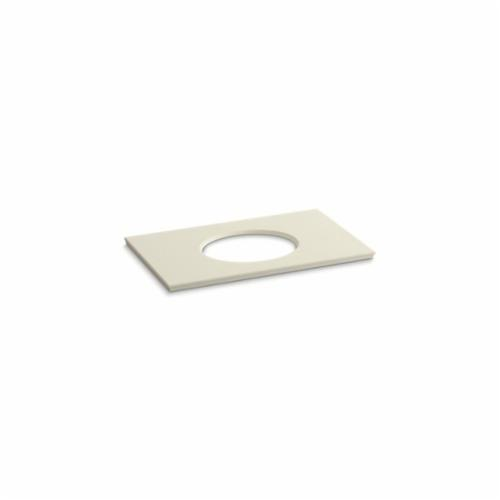 Kohler® 5423-S34 Solid/Expressions™ Vanity Top With Single Verticyl® Oval Cutout, 22-13/16 in OAWx22-13/16 in OADx1-1/4 in OAH, Stone Almond Top