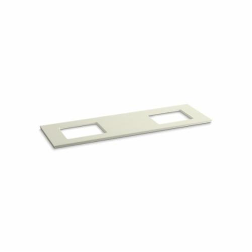 Kohler® 5462-S35 Solid/Expressions™ Vanity Top With Double Verticyl® Rectangular Cutout, 22-13/16 in OAWx22-13/16 in OADx1-1/4 in OAH, Stone Biscuit Top
