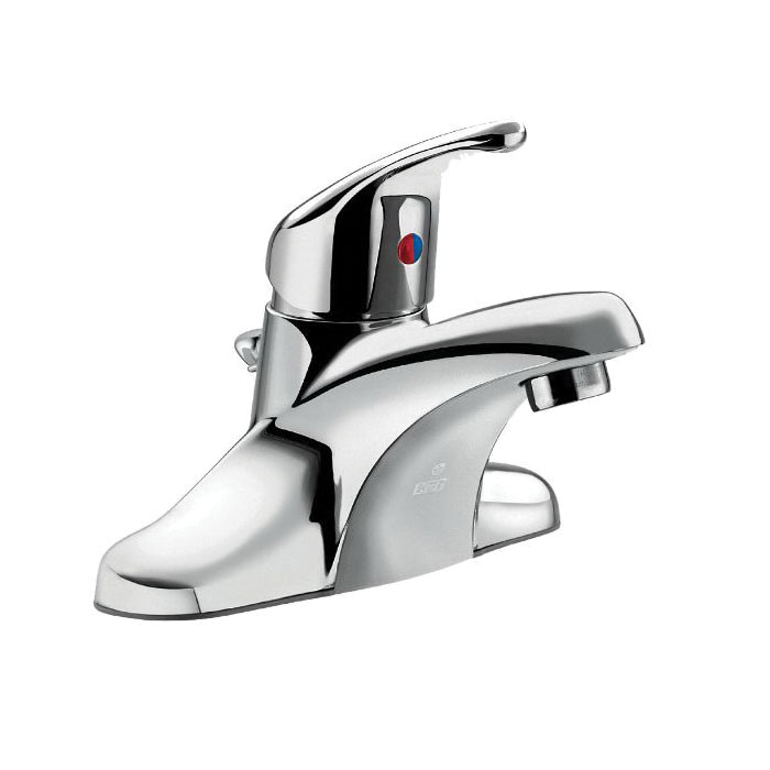 CFG CA40711 Centerset Bathroom Faucet, Cornerstone™, Chrome Plated, 1 Handles, 50/50 Pop-Up Drain, 1.2 gpm