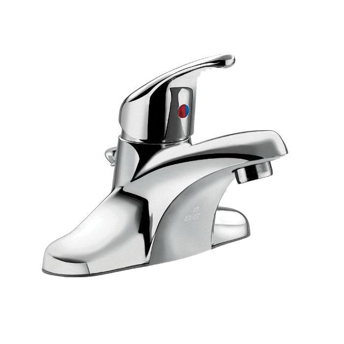 CFG CA40711 Centerset Bathroom Faucet, Cornerstone™, Chrome Plated, 1 Handles, 50/50 Pop-Up Drain, 1.2 gpm