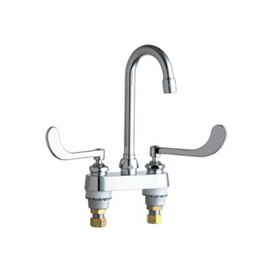 Chicago Faucet® 895-319ABCP Lavatory Sink Faucet, Chrome Plated, 2 Handles, 2.2 gpm
