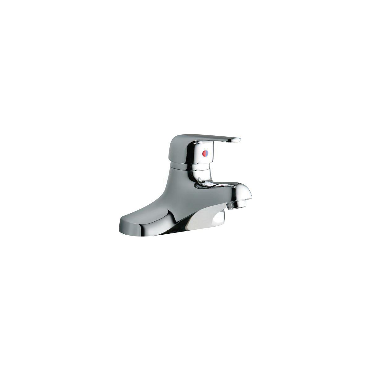 Elkay® LK422L4 Centerset Lavatory Faucet, Chrome Plated, 1 Handles, 0.5 gpm