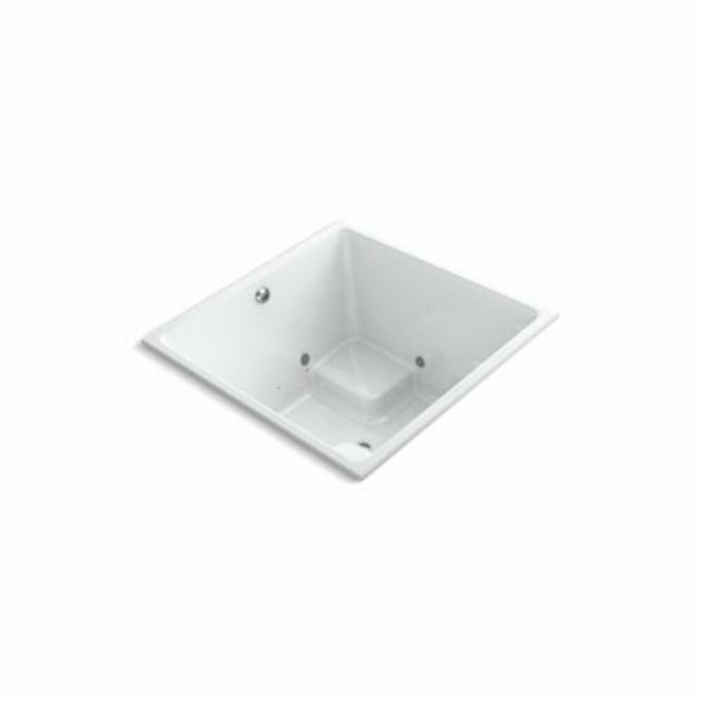 Kohler® 1969-GCR-0 Underscore® Bathtub, Square, 48 in Lx48 in W, Center Drain, White
