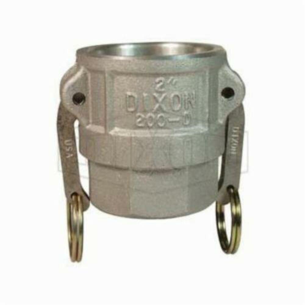 Dixon® 200-D-AL Type D Cam and Groove Coupler, 2 in, Female CouplerxFNPT, Aluminum, Domestic