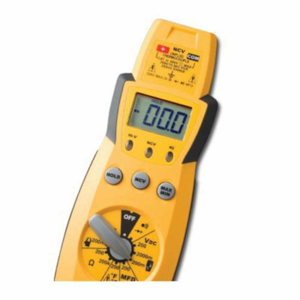 Fieldpiece HS33 Manual Ranging Digital Multimeter, 200/600 VAC, 200/2000 mV, 400 A, 200 Ohm, LCD Display