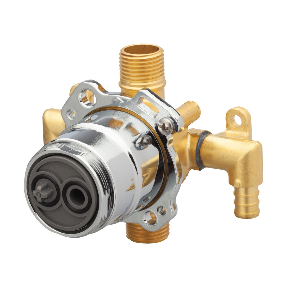 Gerber® G00GS525 Vertical Input Tub and Shower Valve, Hand Shower: No