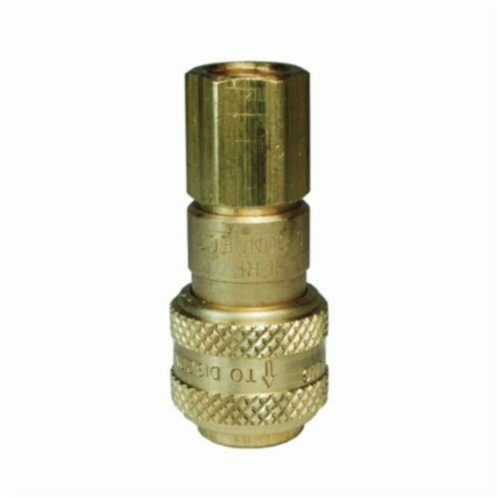 Dixon® 2DF2-B D Series Automatic Industrial Interchange Pneumatic Coupler, 1/4 in, Quick-ConnectxFNPT, Brass