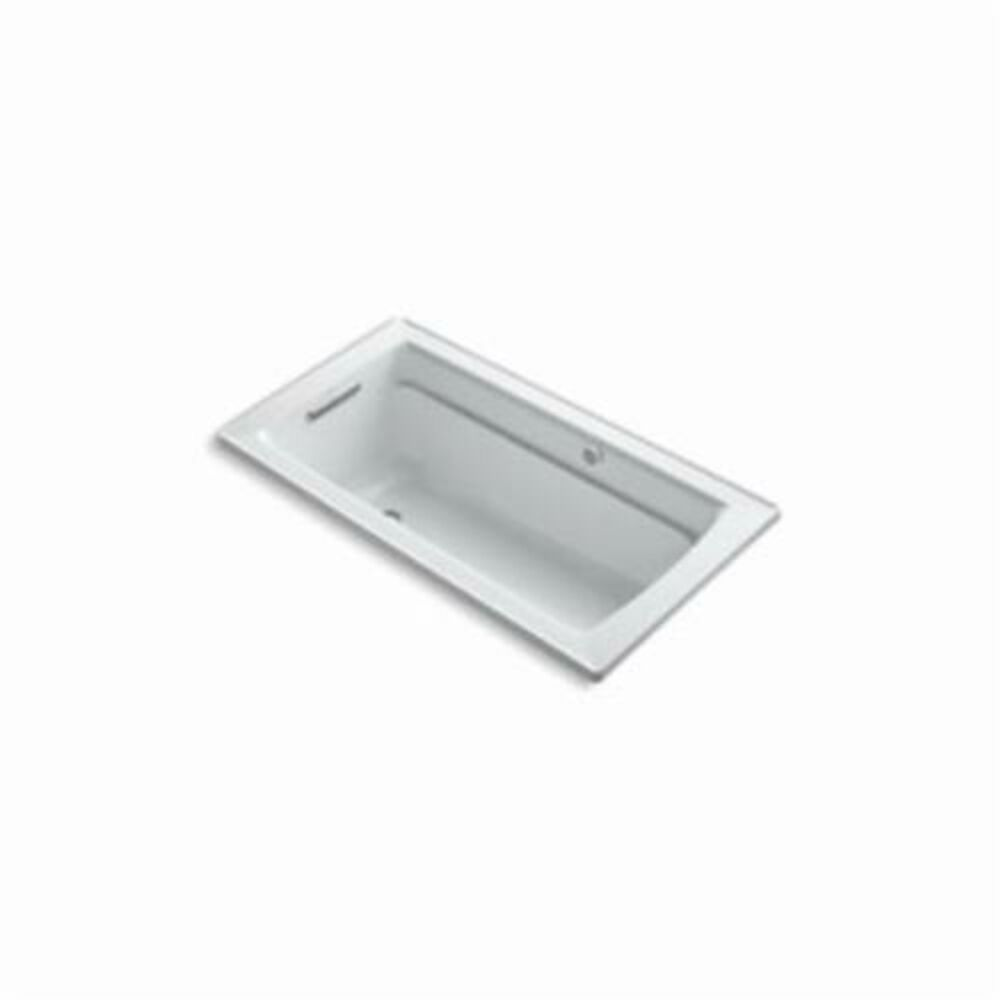 Kohler® 1122-GW-0 Archer® Bathtub With Reversible Drain, BubbleMassage™, Rectangular, 60 in L x 32 in W, End Drain, White
