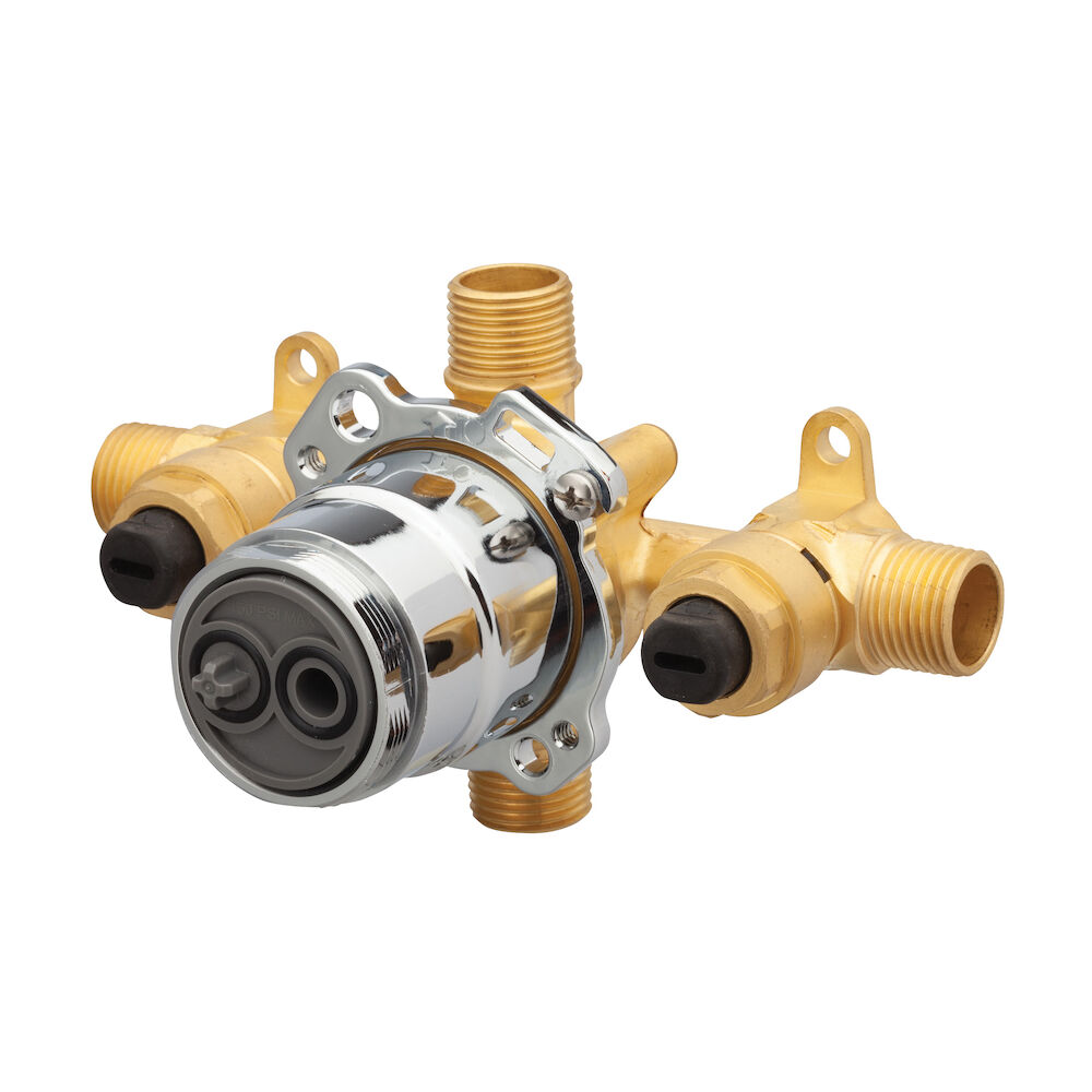 Gerber® G00GS505S Horizontal Input Tub and Shower Valve With Quarter-Turn Service Stops, Hand Shower: No