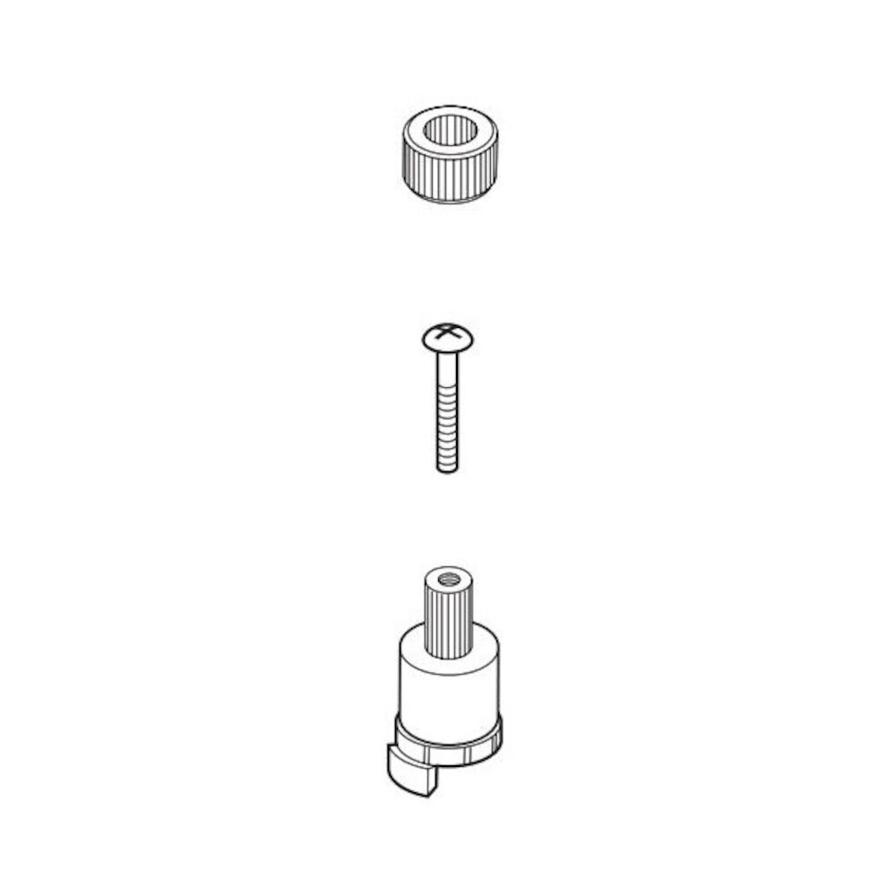 Brizo® RP70607 Charlotte® Screw Adapter and Insert, For Use With T67385 and T67485 2-Handle Roman Tub Trim, Import