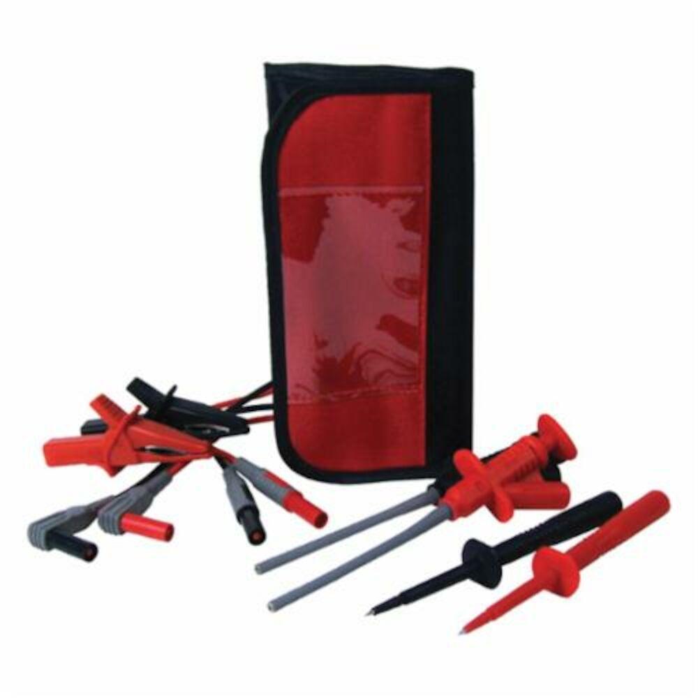 UEi Test Instruments™ ATL301KIT Deluxe Test Lead Kit, For Use With DL369/DL379/DL389/DL49/DL99B/DL235 Digital Clamp Meter, DM383B/DM384/DM391/DM393/DM397 Digital Multimeter