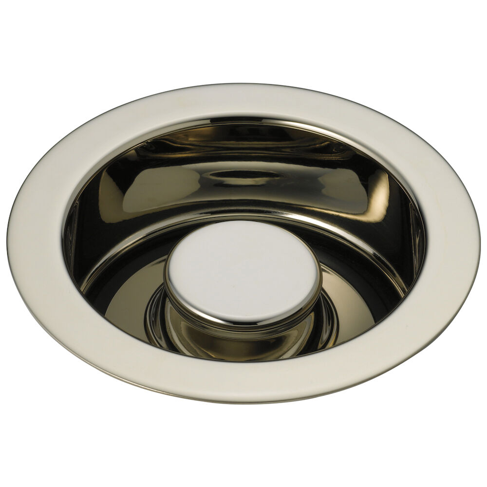 DELTA® 72030-PN Disposal and Flange Stopper, For Use With Kitchen Sink, Brass, Brilliance® Polished Nickel, Import