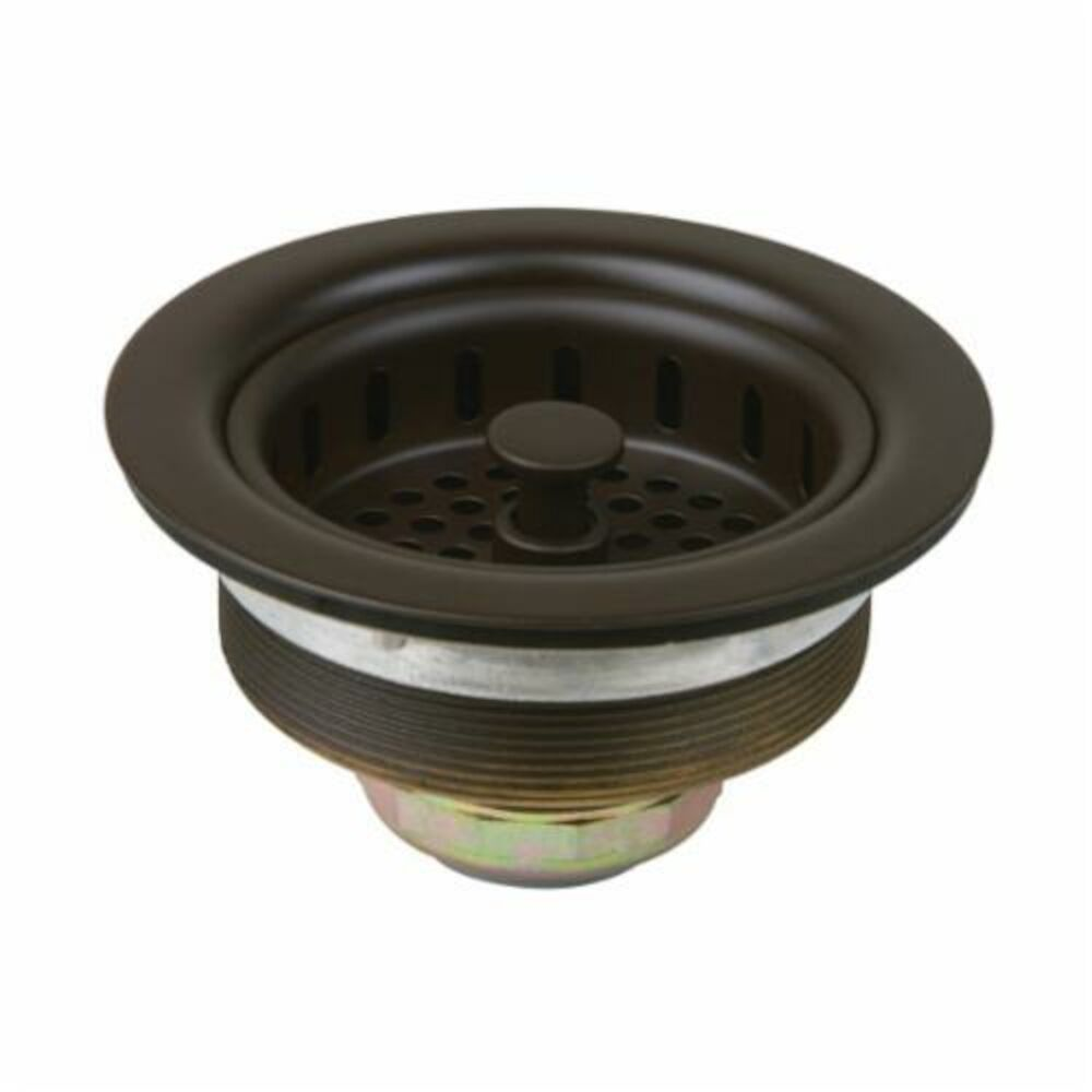 BrassCraft® BC7145 BZ Large Basket Strainer With Nuts and Washers, 3-1/2 in Nominal, Brass, Oil Rubbed Bronze