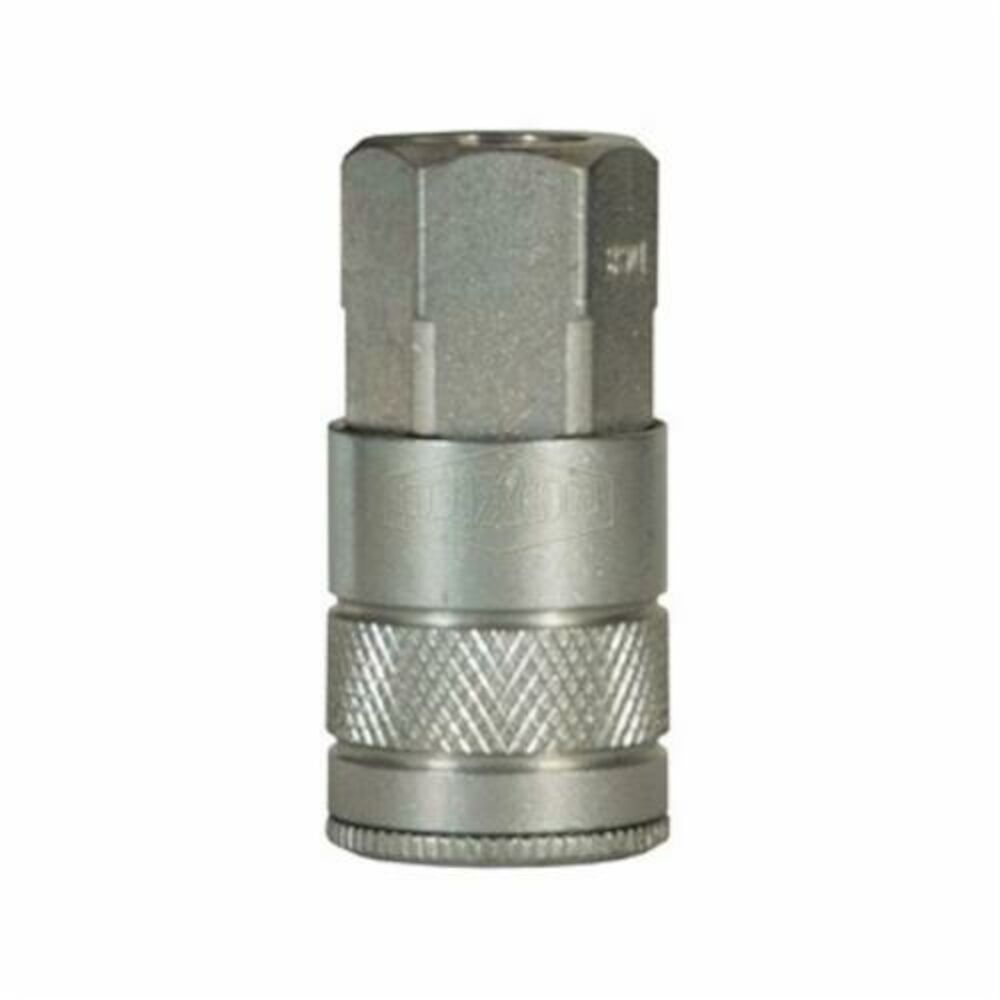 Dixon® DC10 Air Chief Industrial Female Quick Connect Coupler, 1/2-14, Quick Connect CouplerxNPTF, Steel, Domestic