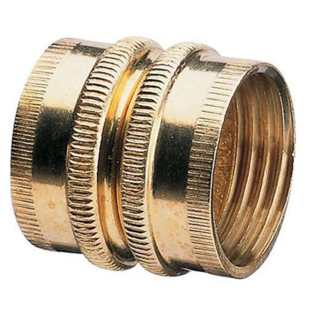 50574 3/4FHx3/4FH, Dual Swivel, Brass Pipe and Hose Fitting