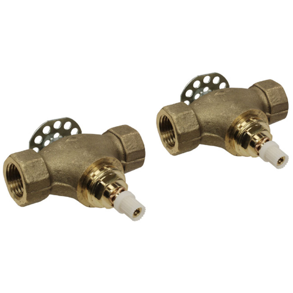 Rohl® U.3261R-2  Pair 1/2 in Valves Roughs for Wall Mount Cross Set