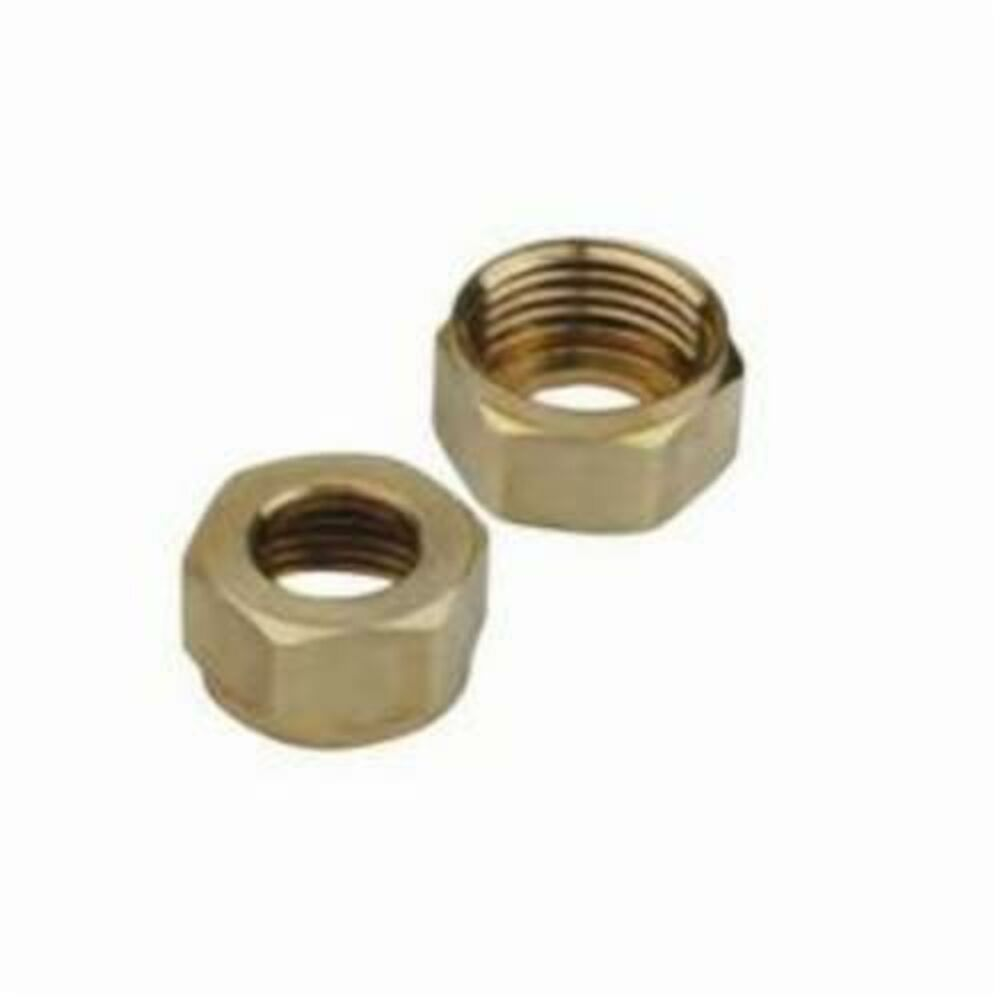 BrassCraft® SF0458 Faucet Shank Nut, For Use With 3/8 in OD Tube, Brass, Domestic