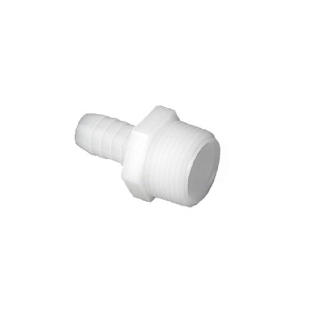 Bramec® 0627 Adapter, 5/8x3/4 BarbXMNPT, Nylon, 4 Pack