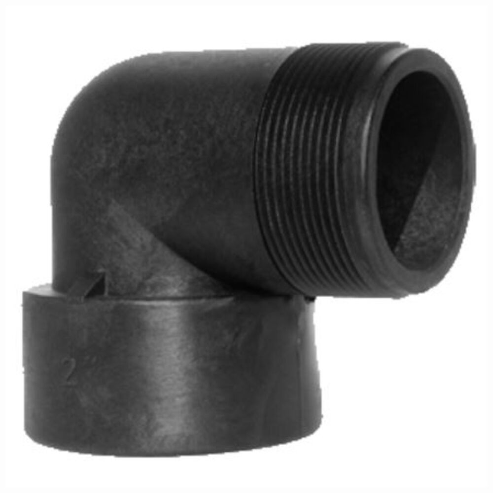 GreenLeaf SE 112P 1-1/2 in FNPTXMNPT 90 Degree Street Elbow, Polypropylene