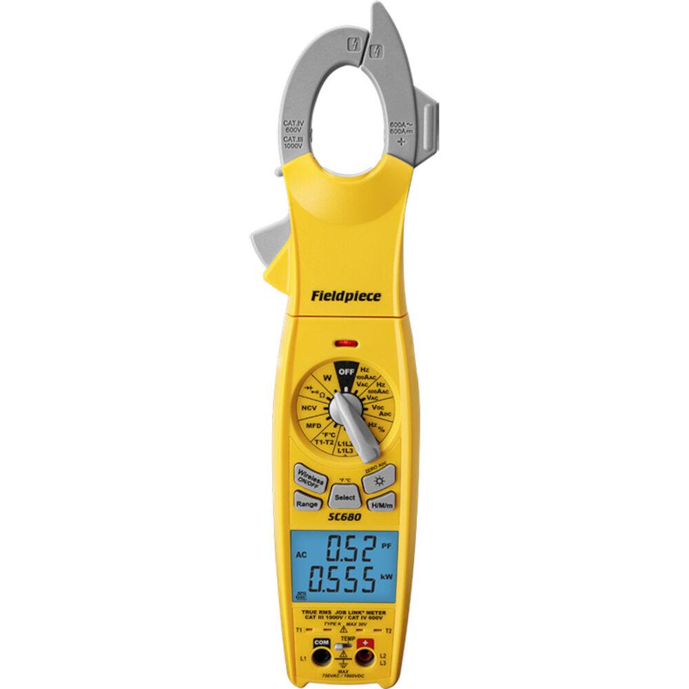 Fieldpiece SC680 Wireless Power Clamp Meter With True RMS