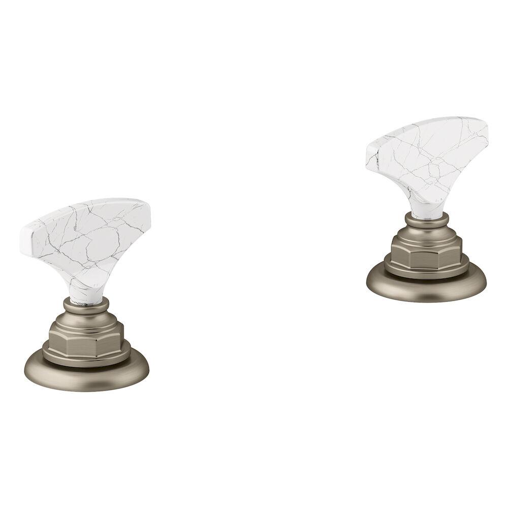 Artifacts Widespread Bathroom Sink Faucet Handles, Vibrant Brushed Bronze