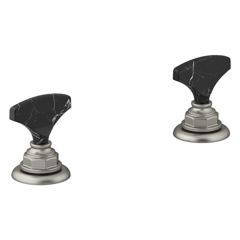 Artifacts Widespread Bathroom Sink Faucet Handles, Vibrant Brushed Nickel