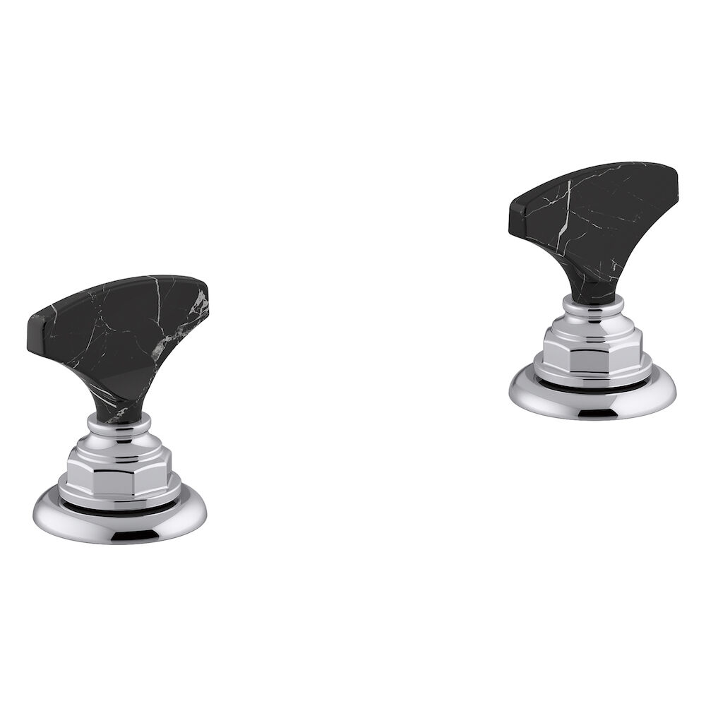 Artifacts Widespread Bathroom Sink Faucet Handles, Polished Chrome
