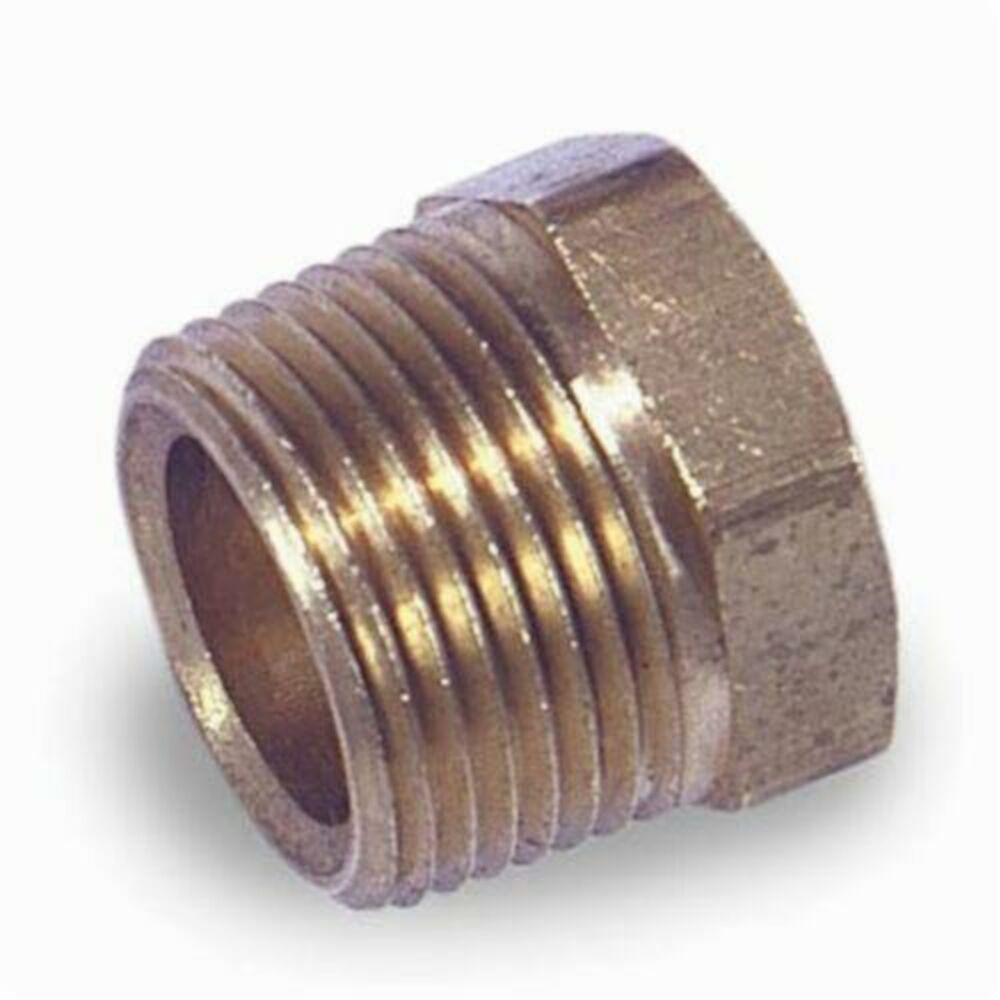1/2 Brass B/S HEX HD PLUG