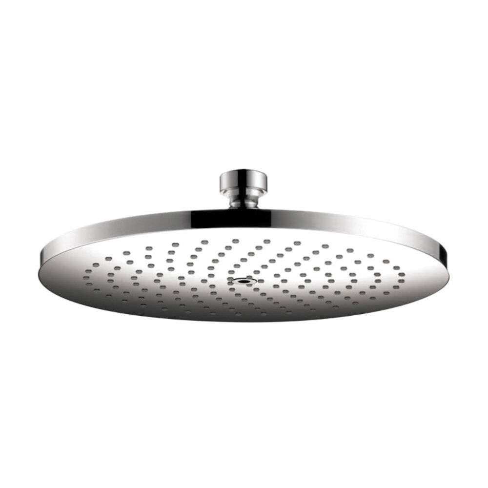 AXOR 26070001 Shower Head, Starck 240, 2 gpm, 1 Sprays, Ceiling/Wall Mount, 9-3/4 in Diax2-3/8 in H Head