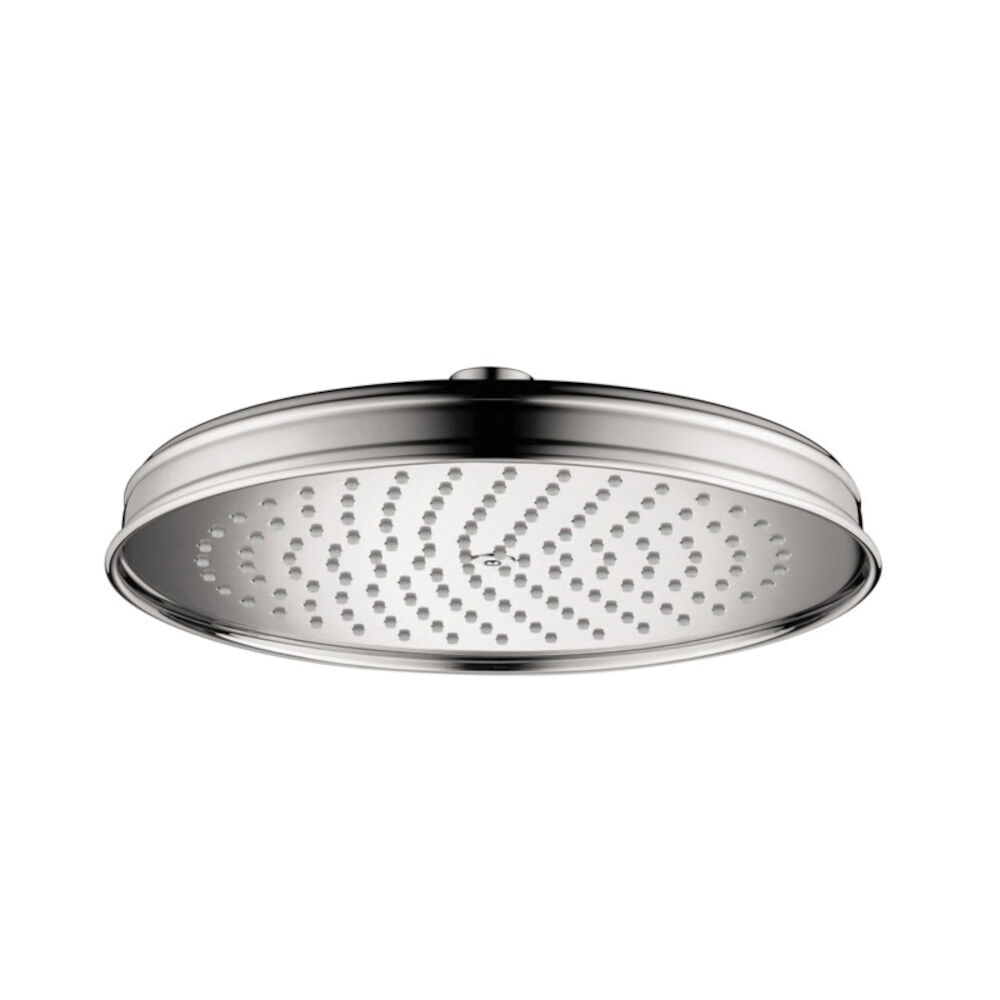 AXOR 28371001 Shower Head, Montreux 240, 2 gpm, 1 Sprays, 9-5/8 in Diax2-1/2 in H Head
