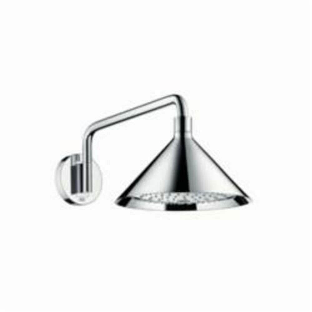 AXOR 26021001 2-Jet Front Shower Head Trim, 240, 2.5 gpm, 2 Sprays, Wall Mount, 11 in Dia Head