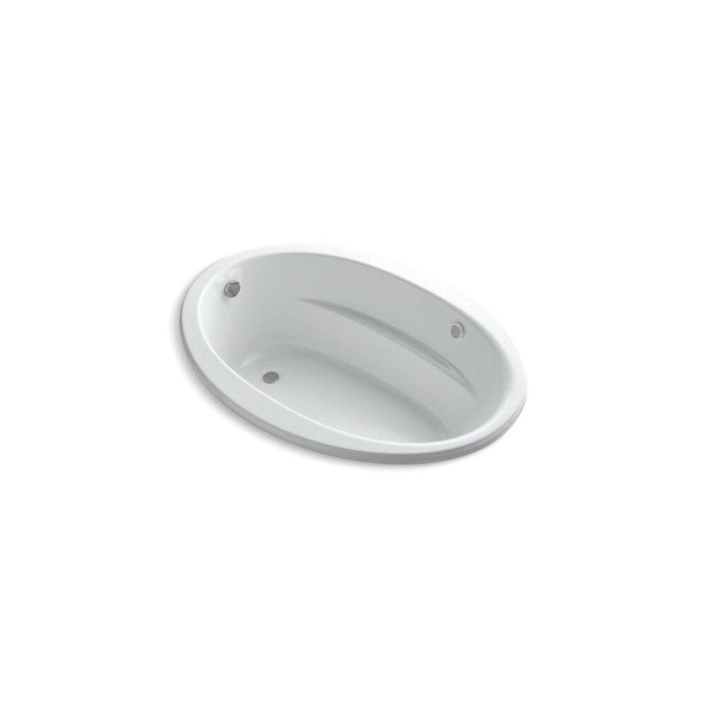 Kohler® 1162-S1W-0 Sunward® Bathtub, Whirlpool, Oval, 60 in L x 42 in W, End Drain, White