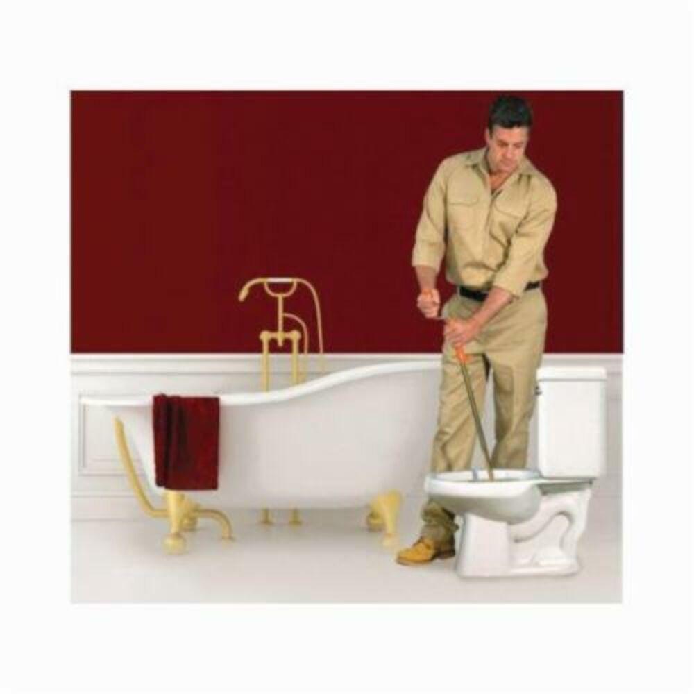 General Pipe Cleaners Flexicore® 3FL Regular Head Toilet Closet Auger, 3 ft L Cable, Vinyl Grip Handle