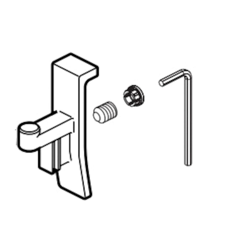 Brizo® RP100442GL Finial/Screw/Cover/Lift Rod, For Use With Levoir™ Model T67498-PCLHP Roman Tub Faucet, Domestic