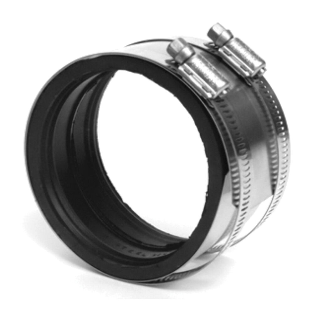 Charlotte ChemDrain® AW 00095 0015C Transition Coupling With Gasket, 1-1/2 in, Spigot, SCH 40/STD, CPVC, Domestic