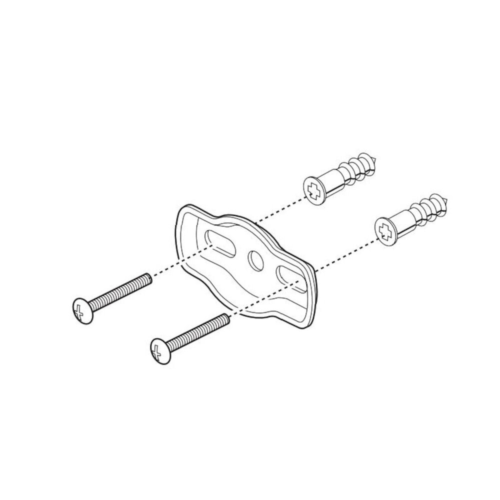 Brizo® RP63872 Siderna® Mounting Hardware, For Use With Model 694680 Towel Ring, Import